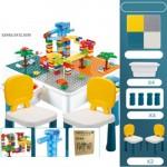 Mesa para bloques multiuso + 2 sillas + Set bloques togoban electrico